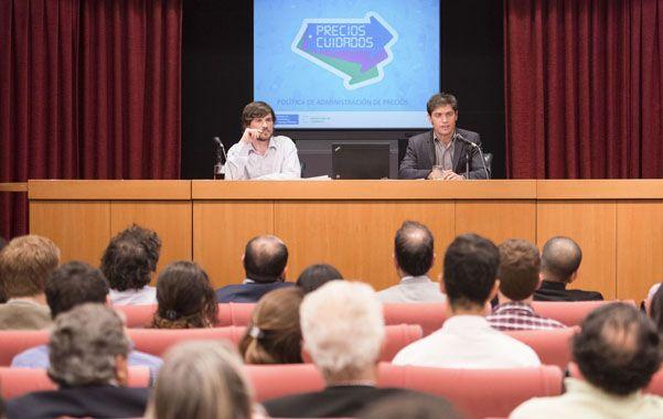 Reglamentación. Costa y Kicillof en conferencia de prensa.