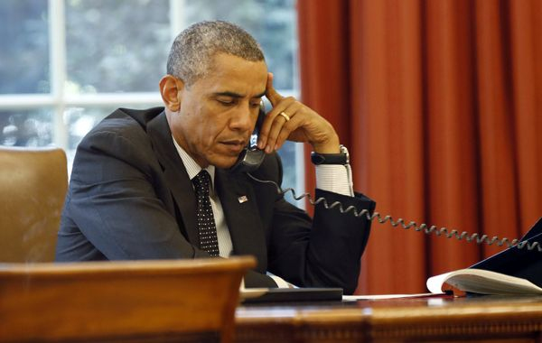 El presidente Barack Obama se reunió ayer con sus asesores de seguridad nacional.