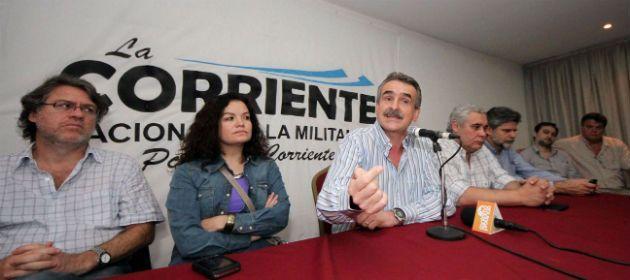 Rossi habla durante el acto de lanzamiento de la Corriente Nacional de la Militancia. (Télam)