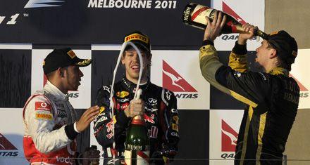 El campeón Vettel ganó en el debut de la Fórmula 1 en Australia