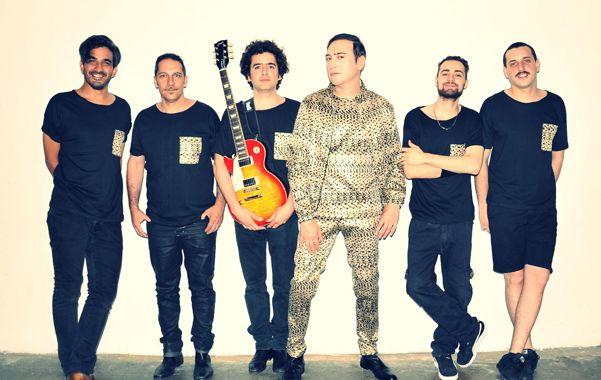 La banda. García junto a los músicos que formaron parte del nuevo disco.