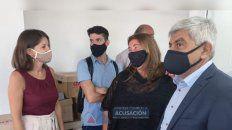 La fiscal regional, Marita Iribarren; la titular de la Unida San Lorenzo, Natalia Benvenutto; y el fiscal general Jorge Baclini.
