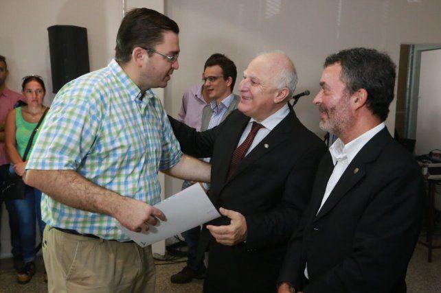 Lifschitz junto al intendente de Casilda