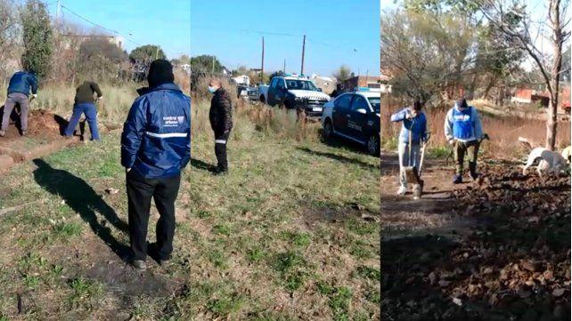 Tras una denuncia, desactivan una usurpación de terrenos en Puente Gallego