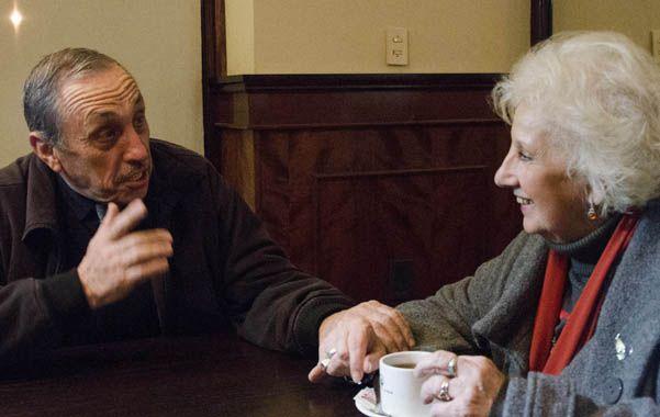 En sintonía. Jorge Obeid y Estela de Carlotto charlaron en Santa Fe sobre política y derechos humanos.
