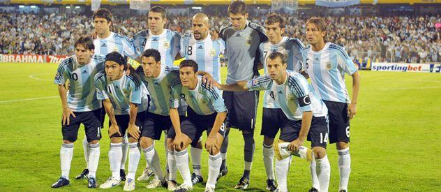 El seleccionado nacional dirigido por aquella vez por Diego Maradona.
