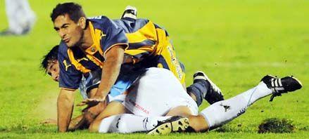 Central: Matías Ballini sufrió una fractura en el tobillo derecho