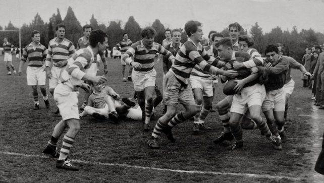 Imagen de un partido disputado entre el Jockey Club y Belgrano Athletic en el Country