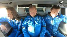 William Shatner, junto a la tripulación del Blue Origins, en su histórico viaje espacial.