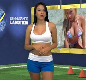 Infartante: una conductora de TV se desnuda mientras da una noticia de Cristiano Ronaldo