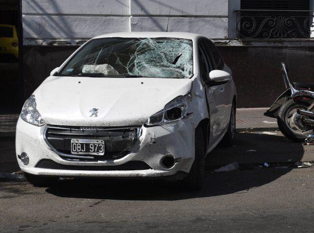 El Peugeot 208 que conducía González Riaño al momento del siniestro vial.