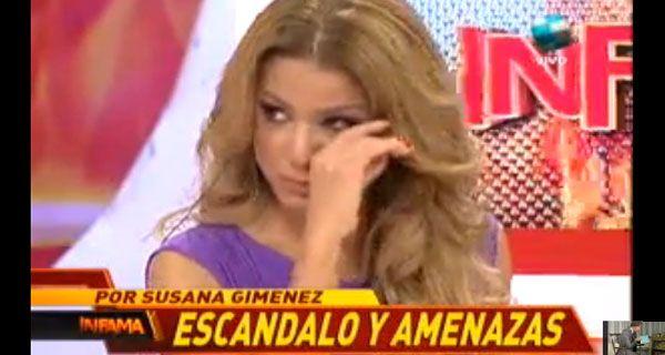 Marina Calabró denunció amenazas de un productor de Susana
