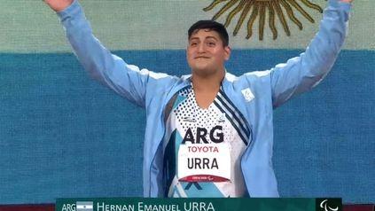 Hernán Urra consiguió una nueva medalla, en lanzamiento de bala (F35).