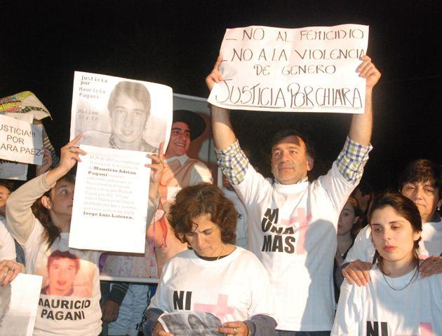 Los padres de Chiara encabezaron una marcha en la que reclamaron justicia por Chiara. (Foto: Gentileza Cuper Ameri)