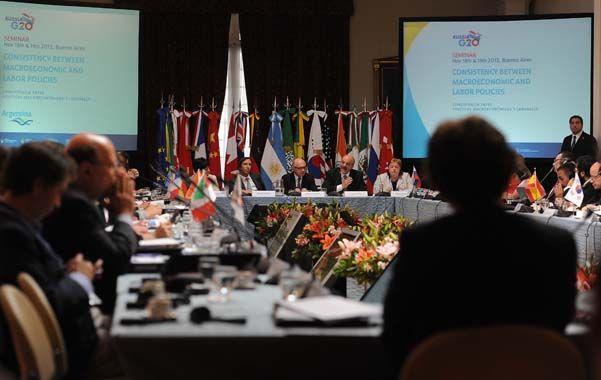 Despedida. Lorenzino y Marcó del Pont estuvieron en el seminario del G-20.