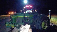 Tres heridos al chocaron un auto y un tractor en la ruta 2