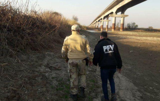 Policia de Entre Ríos patrullaba la zona.