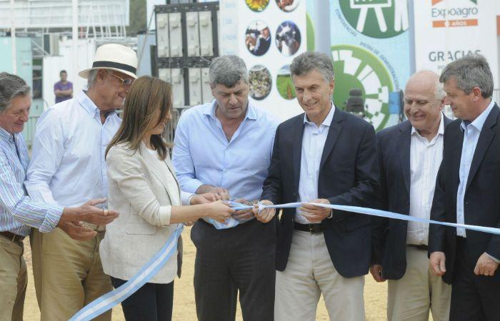 Euforia. El presidente Macri hizo pata ancha en Expoagro.