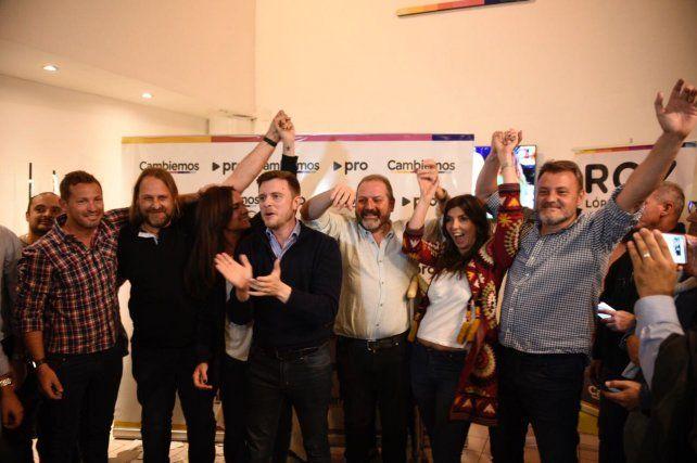 López Molina celebró el triunfo en Rosario en el local del PRO de Maipú y San Lonrezo.
