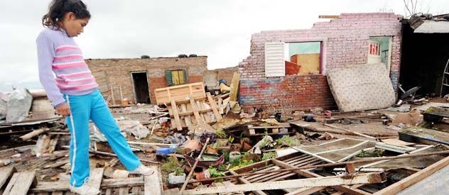 El populoso barrio Barranquistas fue el más castigado