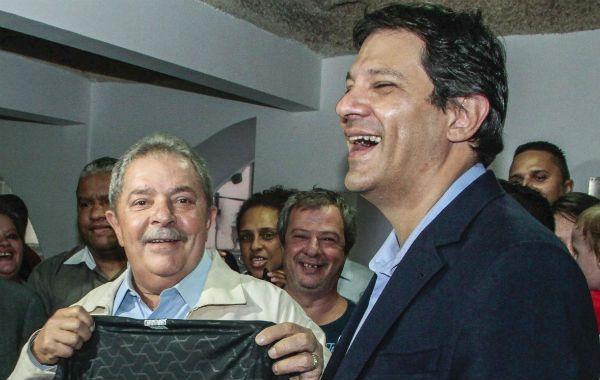 Lula junto a su delfín