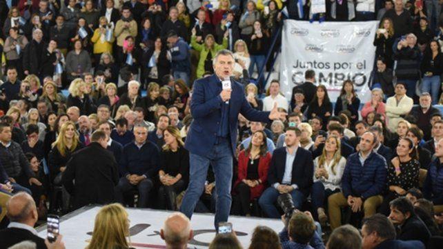 Enfático. Macri habló de la lucha contra el narcotráfico y las mafias. Aludió a la reciente detención del sindicalista Herme Juárez.