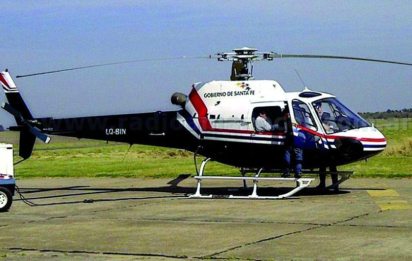 El helicóptero de la provincia participó de la observación aérea.