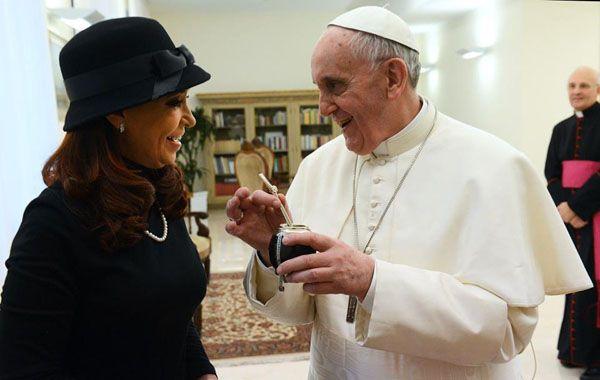 La presidenta y el papa Francisco se encontraron por primera vez en el Vaticano hace un año.