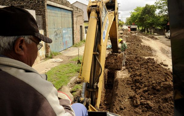 Cloacas. Las autoridades quieren revertir un déficit histórico en la ciudad.