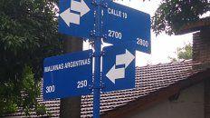 Barrio Los Robles. La calle 10 se llamará ahora 10 Diego Armando Maradona.