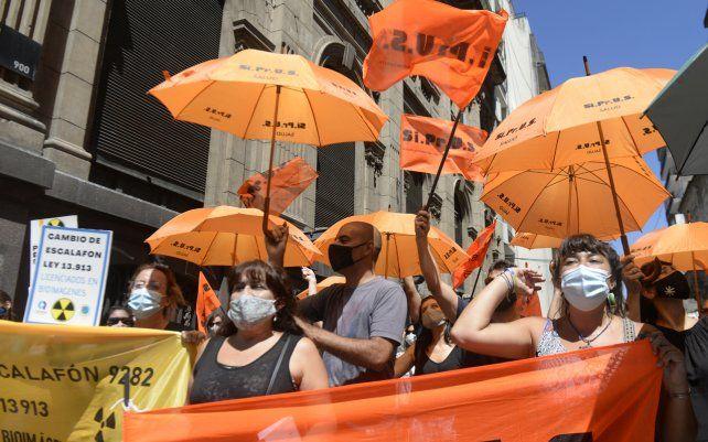 Manifestación de los trabajadores de la salud