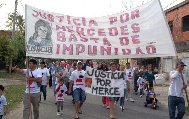 Marchas. La muerte de Mercedes Delgado despertó el reclamo de un barrio cansado de la impunidad.