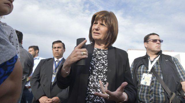 La ministra de Seguridad Patricia Bullrich. (Foto de archivo)