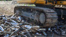 mas de doscientos canos de escapes de motos fueron destruidos en venado tuerto por ocasionar ruidos