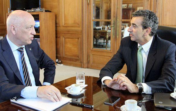 En Casa Rosada. El gobernador Antonio Bonfatti se reunió ayer con el ministro del Interior