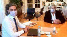 Santiago Cafiero y Sergio Romero, en una reunión en la Casa de Gobierno.