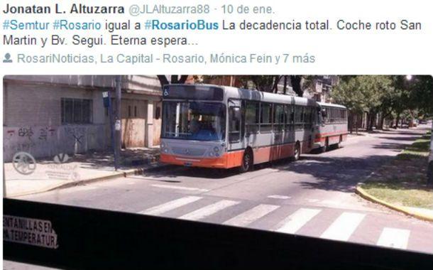 Un usuario refleja lo ocurrido con el servicio de transporte urbano de pasajeros.