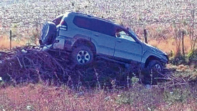 Salta. Así quedó la camioneta Toyota
