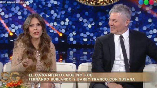 Barby Franco y Fernando Burlando se pasaron factura por lo que sucedió con los planes de boda.