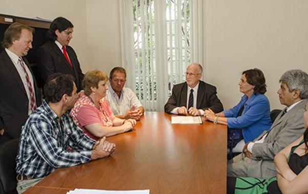 Convenio. Funes se comprometió a colaborar con la nueva ley penal.