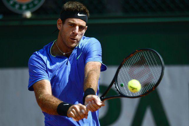 Del Potro volvió a Roland Garros después de cinco años y barrió a Guido Pella