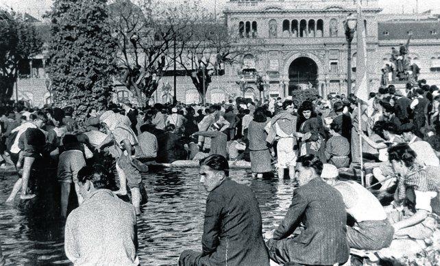 Las patas en la fuente. Luego de una extensa marcha