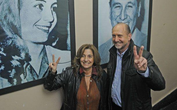 Omar Perotti y Silvina Frana