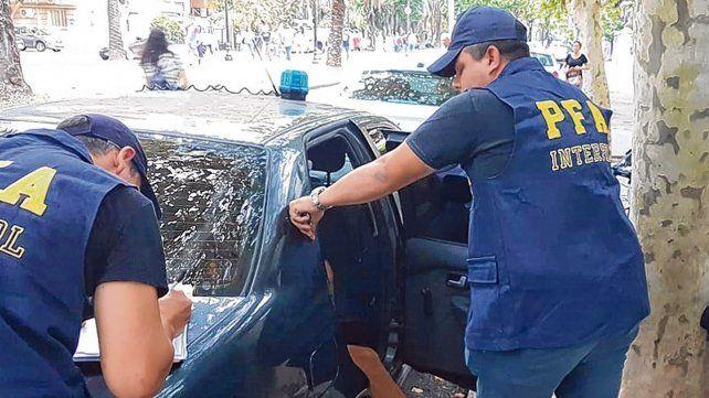Atrapado. Lucho C. fue detenido la tarde del sábado en inmediaciones de Urquiza y bulevar Oroño.