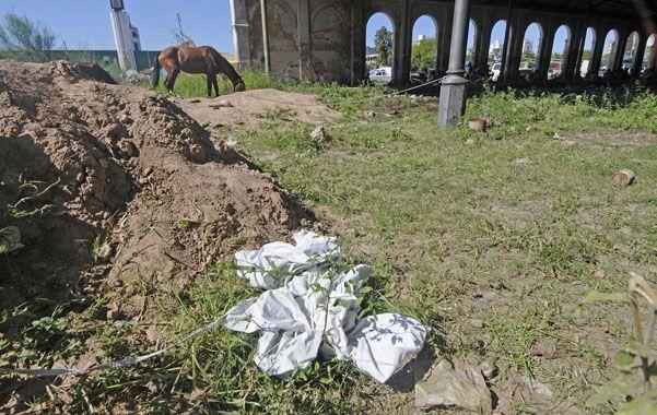 Pastizales. El cuerpo fue hallado en el predio de la ex estación del Mitre.