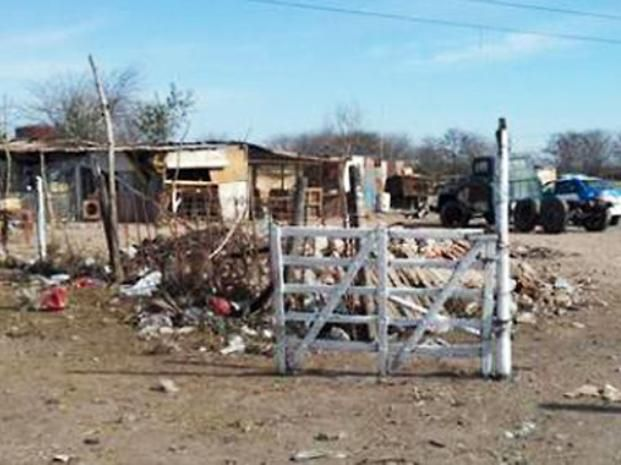 El campo de Piñero donde fue apresado el comisario tras recibir la plata marcada.