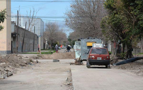 El crimen ocurrió en una zona que está siendo pavimentada.