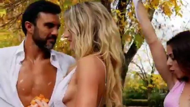 Mica Viciconte publicó un sensual video junto a Poroto Cubero