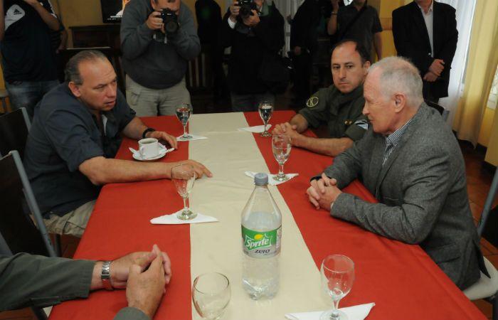 Berni junto al ministro Raúl Lamberto. El funcionario nacional prometió colaborar con la provincia.