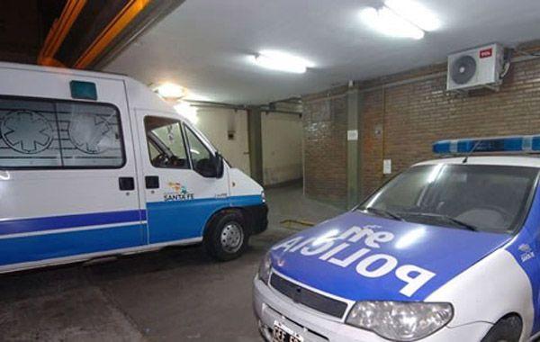 Una ambulancia del Sies asistió al lugar para apoyar el gran trabajo de los policías.